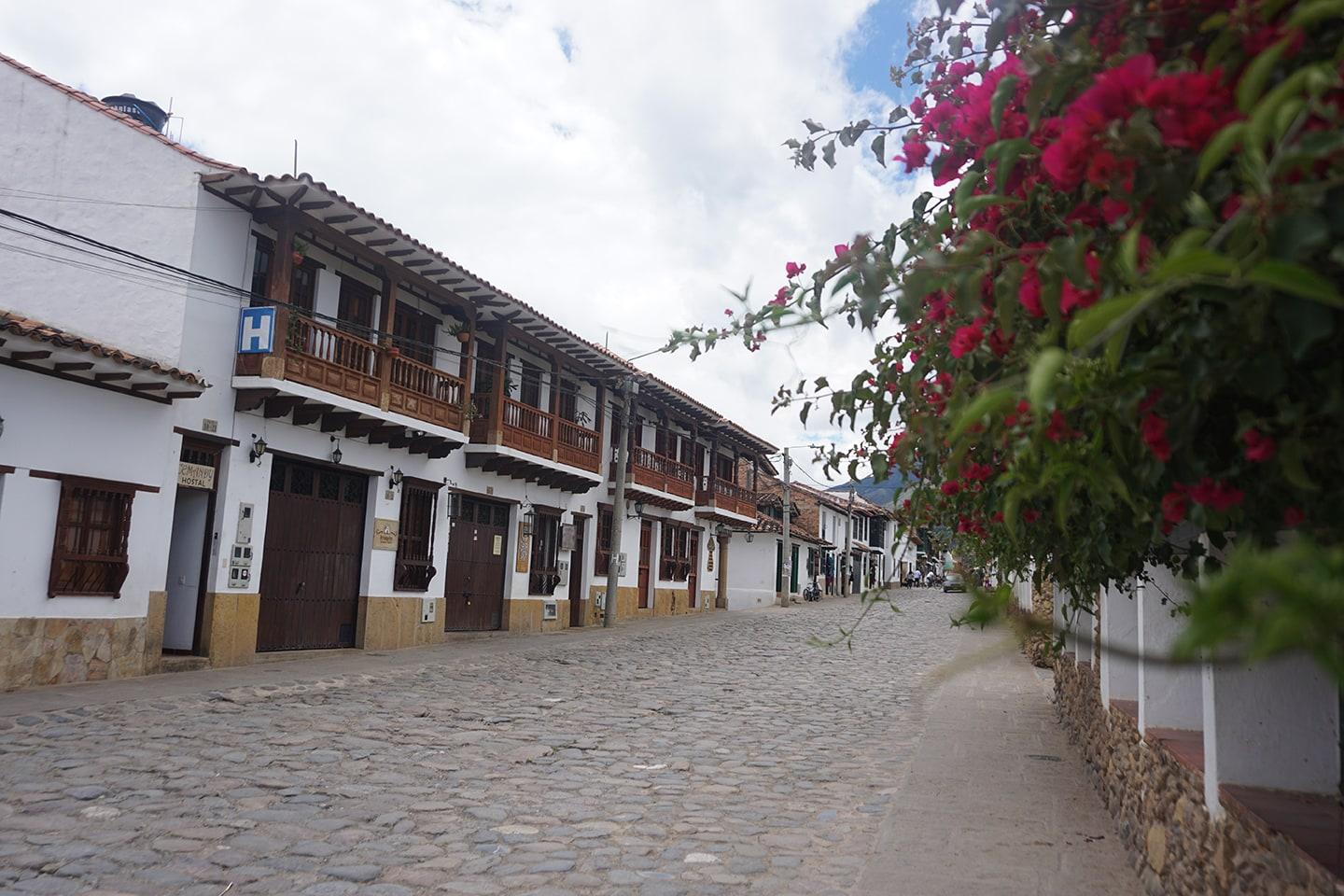 Wit dorp Villa de Leyva in Colombia